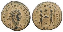 Ancient Coins - Probus 276-282 A.D. Antoninianus Tripolis Mint Near VF