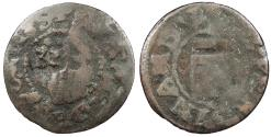 World Coins - GERMAN STATES Paderborn Ferdinand I 1632 countermark 4 pfennig VF
