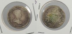 World Coins - PERU: 1820-LIMAE JP Ferdinand VII 1/2 Real