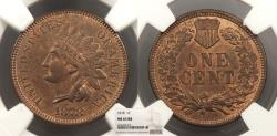 Us Coins - 1878 Indian Head 1 Cent NGC MS-63 RB