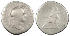 Ancient Coins - Vespasian 69-79 A.D. Denarius Rome Mint About Fine