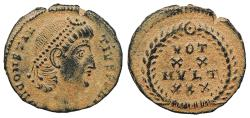 Ancient Coins - Constantius II 337-361 A.D. AE4 Antioch Mint Near EF