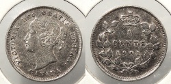 World Coins - CANADA: 1901 Victoria 5 Cents