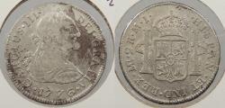 World Coins - PERU: 1776-LIMAE MJ Charles III 2 Reales