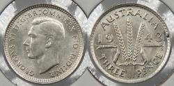 World Coins - AUSTRALIA: 1943-S George VI 3 Pence