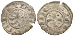 World Coins - CRUSADERS Lusignan Kings of Cyprus Henri II, Second Reign 1310-1324 Denier VF