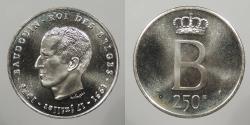 World Coins - BELGIUM: 1976 Prooflike 250 Francs