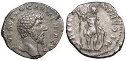 Ancient Coins - Lucius Verus 161-169 A.D. Denarius Rome Mint Near EF