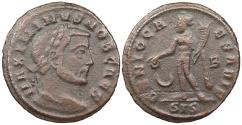 Ancient Coins - Maximinus II, as Caesar 305-310 A.D. Follis Siscia Mint Near VF