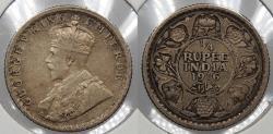 World Coins - INDIA: 1916( c) George V 1/4 Rupee