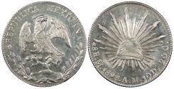 World Coins - MEXICO 1893-Mo AM 8 Reales BU