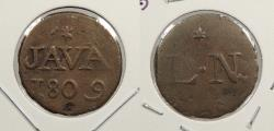 World Coins - NETHERLANDS EAST INDIES: Java 1809 Duit