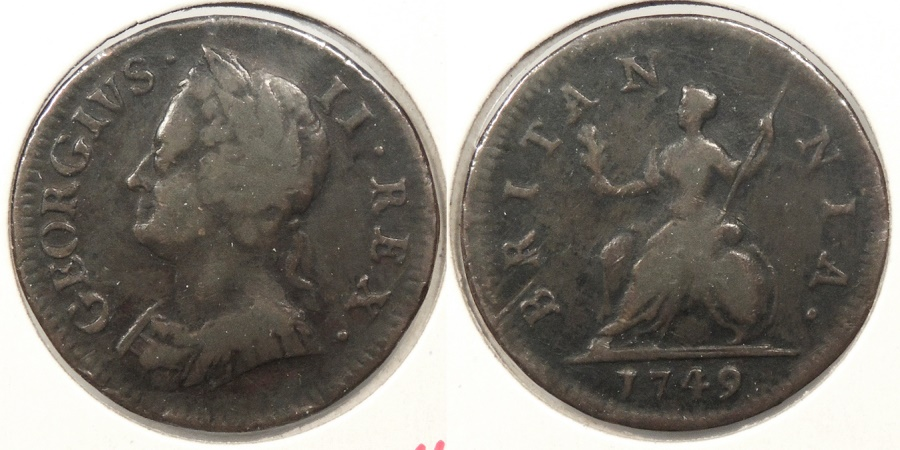 World Coins - GREAT BRITAIN: 1749 Farthing
