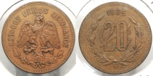 World Coins - MEXICO: 1935 20 Centavos