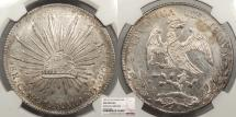 World Coins - MEXICO 1891-Cn AM 8 Reales NGC UNC