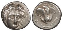 Ancient Coins - Caria Rhodes c. 394-304 B.C. Didrachm Near VF