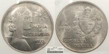 World Coins - CUBA 1935 Peso ANACS MS-62