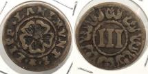 World Coins - GERMAN STATES: Lippe-Detmold 1644-1669 3 Pfennig