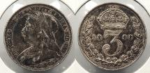 World Coins - GREAT BRITAIN: 1896 3 Pence