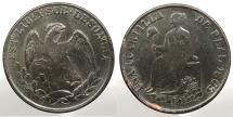 World Coins - MEXICO: Sonora 1863/2 Overdate. 1/4 Real (Quarto)