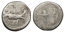 Ancient Coins - Marc Antony 43-31 B.C. Denarius Military Mint moving with Marc Antony Fine