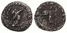 Ancient Coins - Baktria Graeco-Baktrian Menander I 165/155-130 B.C. Drachm Near VF
