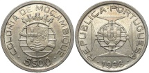 World Coins - MOZAMBIQUE: 1938 5 Escudos