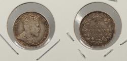 World Coins - CANADA: 1908 Edward VII 5 Cents