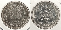 World Coins - MEXICO: 1939-Mo 20 Centavos