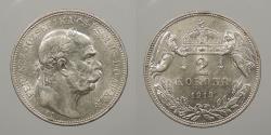 World Coins - HUNGARY: 1913 2 Korona