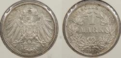 World Coins - GERMANY: 1915-F Mark
