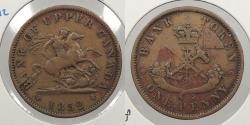 World Coins - CANADA: Upper Canada 1852 Penny Token
