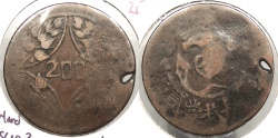 World Coins - CHINA: Szechuan Ca. 1926 Warlord Issue? 200 Cash