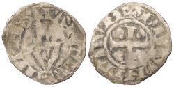 World Coins - FRANCE FRANCHE-COMTÉ ARCHBISHOPRIC OF BESANCON 1050-1350 Denier Near VF