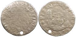 World Coins - MEXICO Philip (Felipe) V 1737-Mo MF 2 Reales 'Pistareen' No Grade
