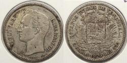World Coins - VENEZUELA: 1929 1 Bolivar