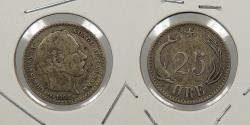 World Coins - DENMARK: 1905 25 Ore