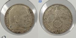 World Coins - GERMANY: 1938-A Hindenburg. 2 Mark