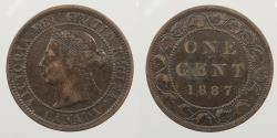 World Coins - CANADA: 1887 Cent