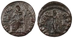 Ancient Coins - Time of Maximinus II 309-313 A.D. AE4 Antioch Mint Good Fine