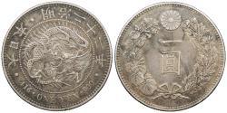 World Coins - JAPAN Mutsuhito (Meiji) Year 22 (1889) Yen EF