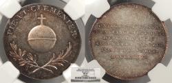 World Coins - HUNGARY Pressburg (now Bratislava, Slovakia) Francis II, Holy Roman Emporer 1825 AR 24mm Medal NGC MS-64