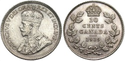 World Coins - CANADA: 1919 10 Cents