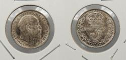 World Coins - GREAT BRITAIN: 1907 Edward VII 3 Pence