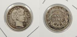 Us Coins - 1901-O Barber 10 Cents (Dime)
