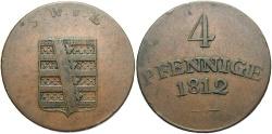 World Coins - GERMAN STATES: Saxe-Weimar-Eisenach 1812 4 Pfennig