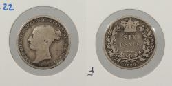 World Coins - GREAT BRITAIN: 1839 Sixpence
