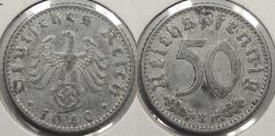 World Coins - GERMANY: Third Reich 1940-E 50 Pfennig