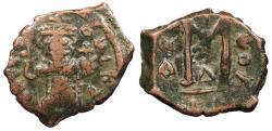 Ancient Coins - Constans II 641-668 A.D. Follis Constantinople Mint Fine