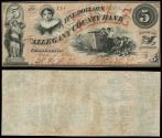 Us Coins - Cumberland, MD Allegany County Bank Jan 4, 1860 5 Dollars